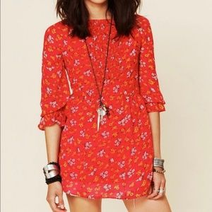 Free People Court Me With Flowers Boho Tunic Top